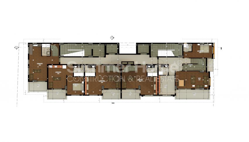 شقة بغرفة نوم واحدة بأسعار معقولة في أفسالار plan - 3