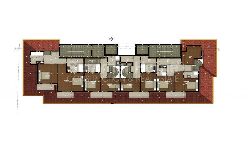 شقة بغرفة نوم واحدة بأسعار معقولة في أفسالار plan - 4