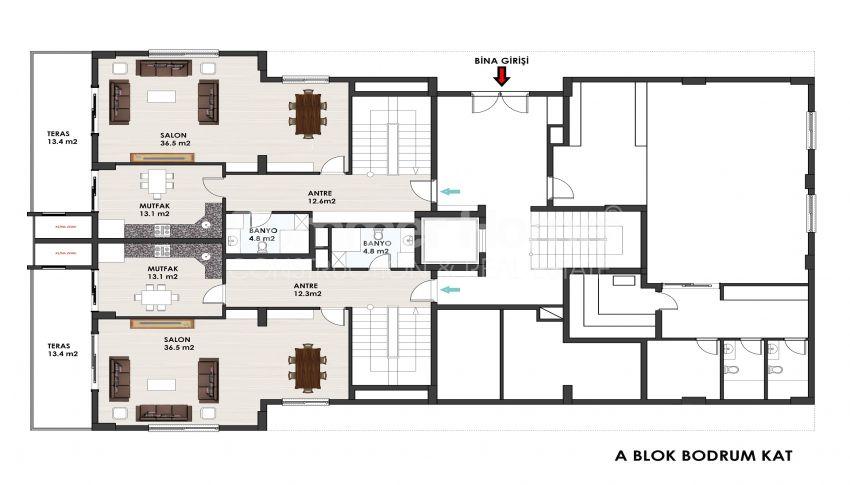 آپارتمانهای متنوع در مجموعهای در مرکز آلانیا plan - 3